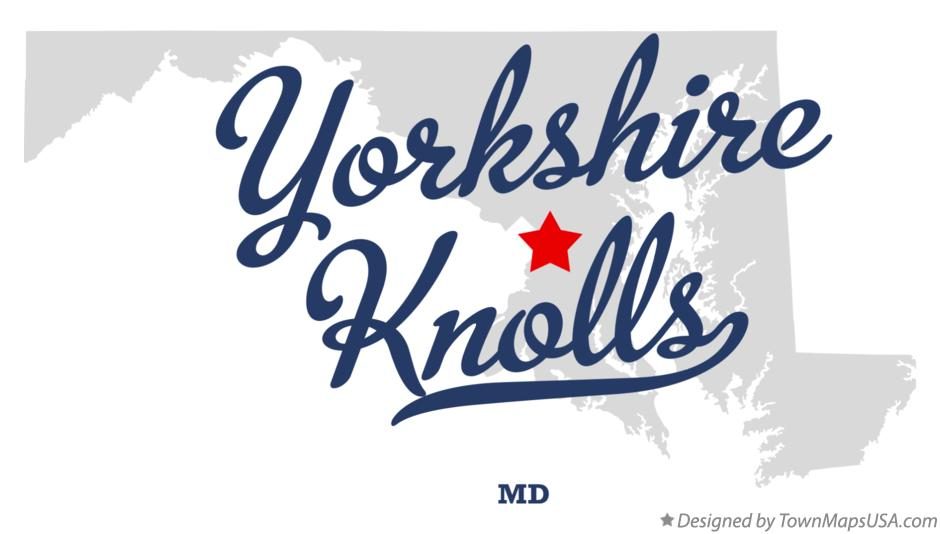 Map of Yorkshire Knolls Maryland MD