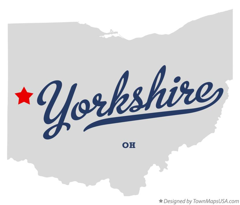Map of Yorkshire Ohio OH
