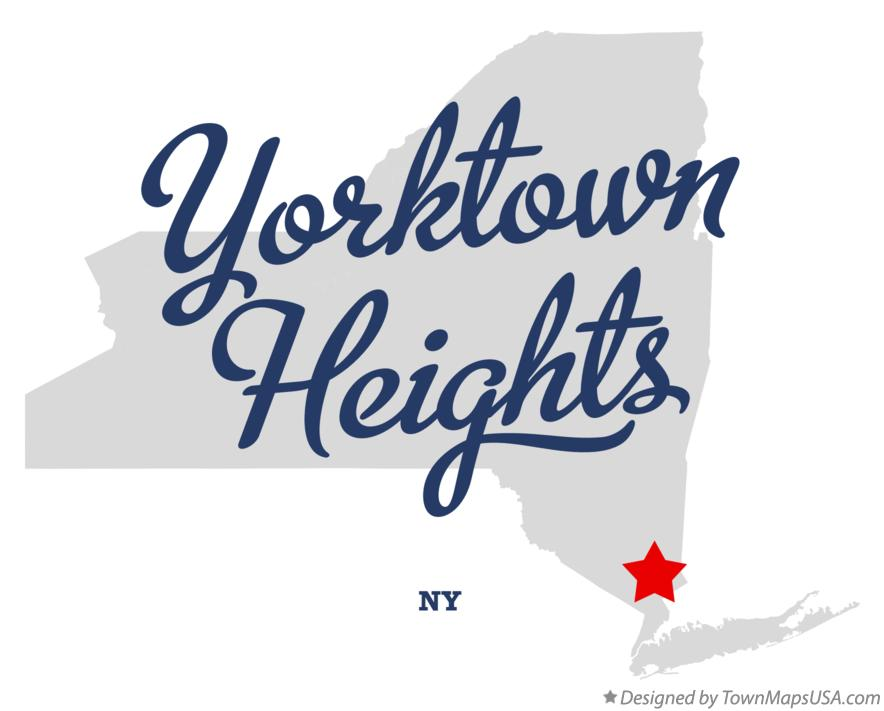Map of Yorktown Heights New York NY