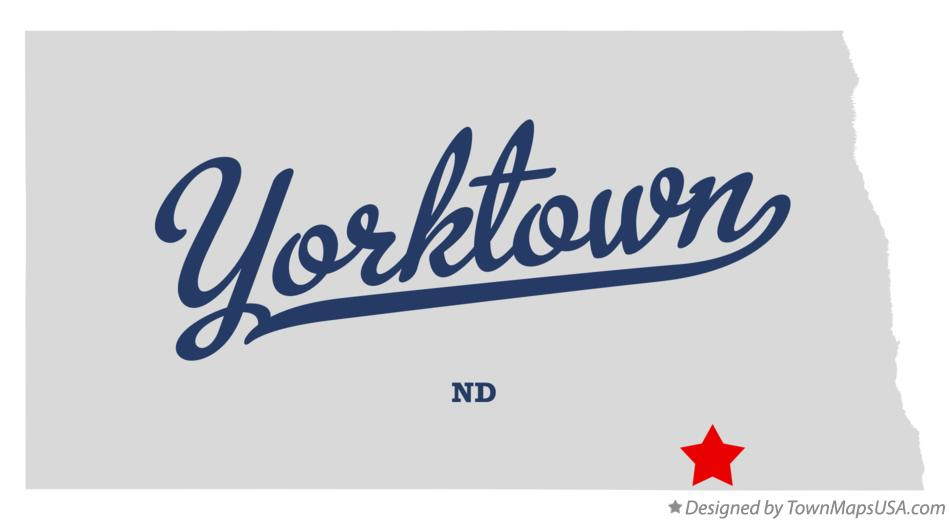 Map of Yorktown North Dakota ND