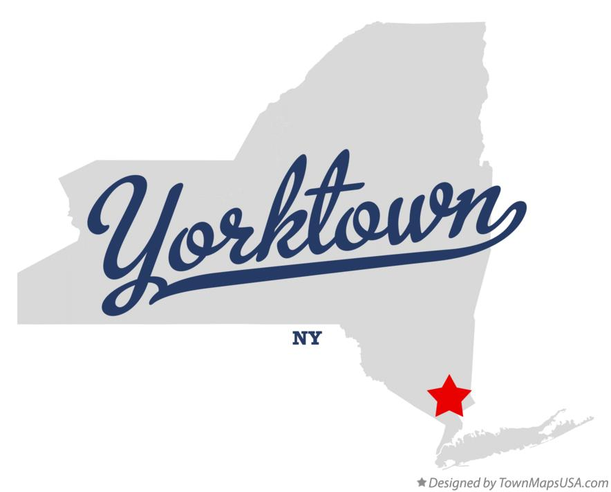 Map of Yorktown New York NY