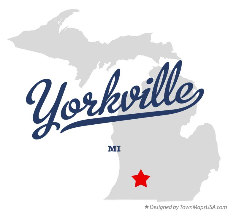 Map of Yorkville Michigan MI