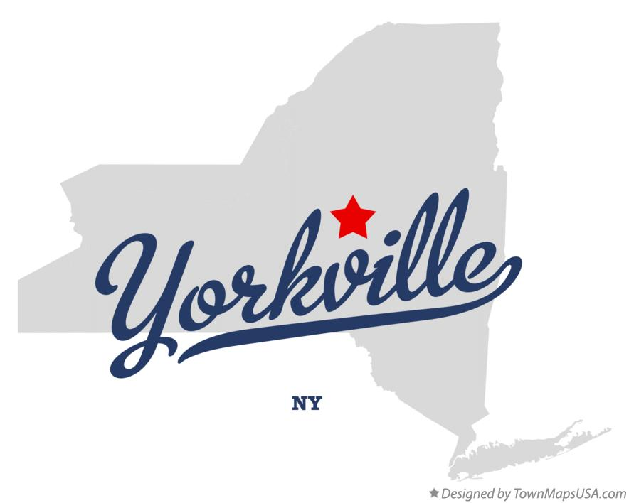 Map of Yorkville New York NY