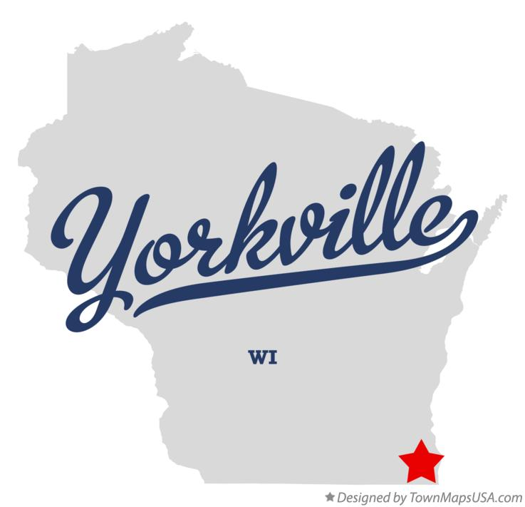 Map of Yorkville Wisconsin WI