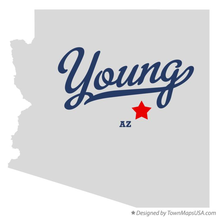 Map Of Young Arizona.Map Of Young Az Arizona