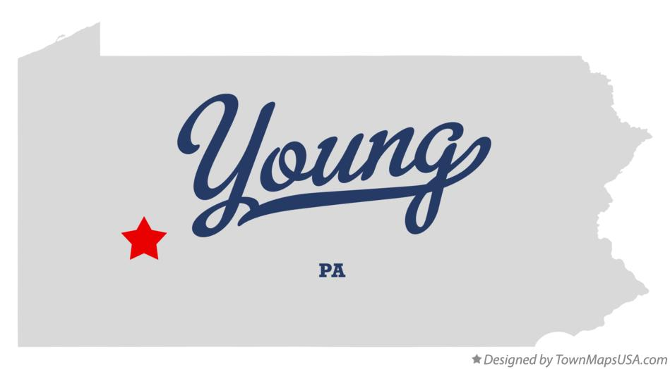Map of Young Pennsylvania PA