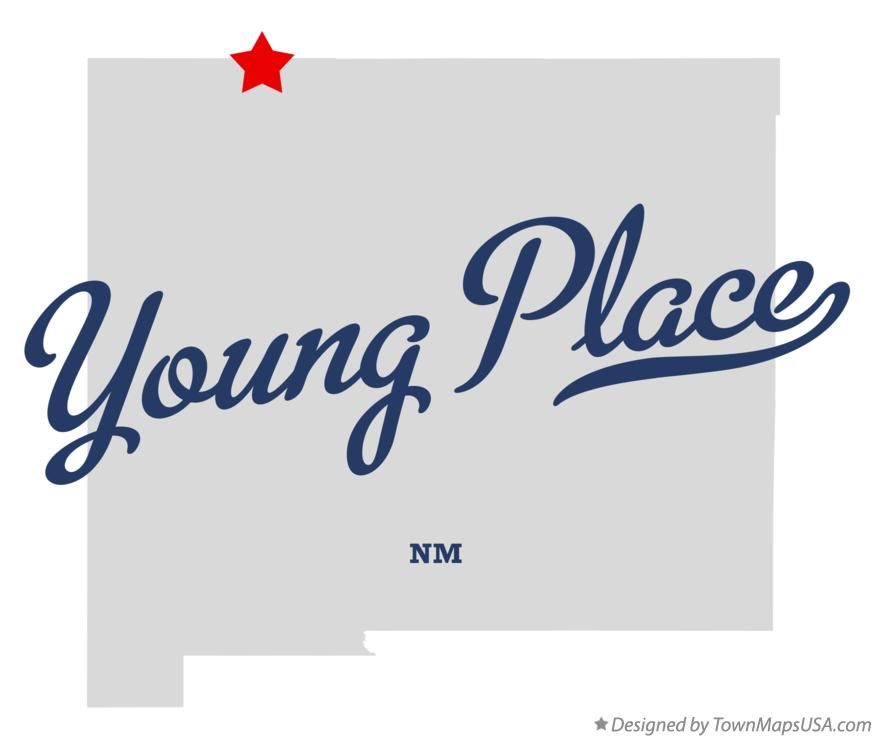 Map of Young Place New Mexico NM