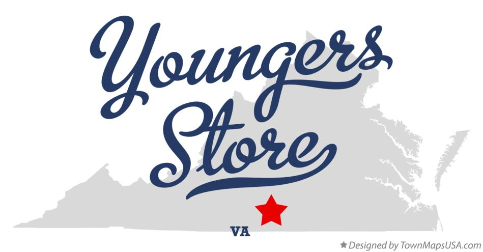 Map of Youngers Store Virginia VA