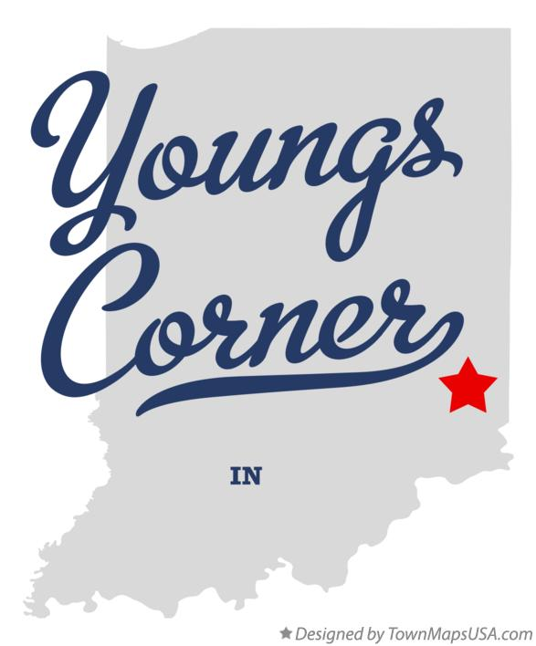 Map of Youngs Corner Indiana IN