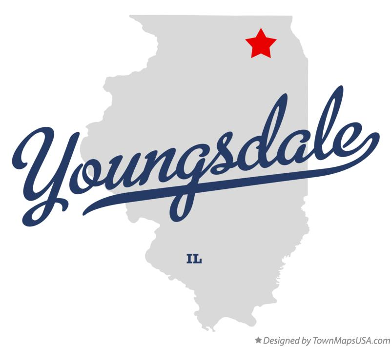 Map of Youngsdale Illinois IL
