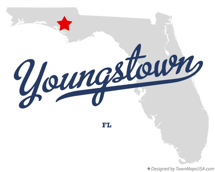 Map of Youngstown Florida FL