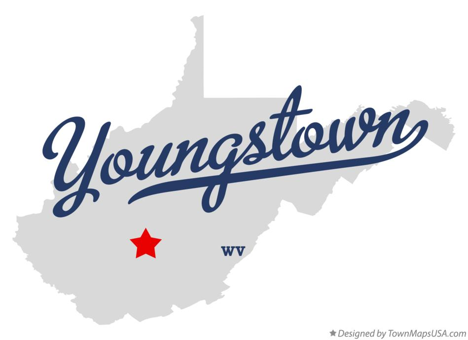 Map of Youngstown West Virginia WV