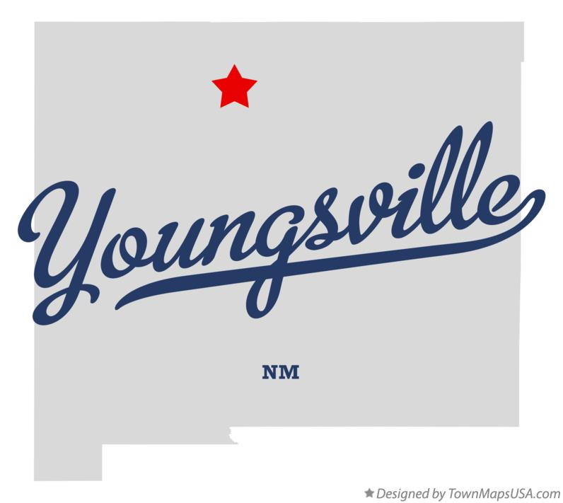Map of Youngsville New Mexico NM