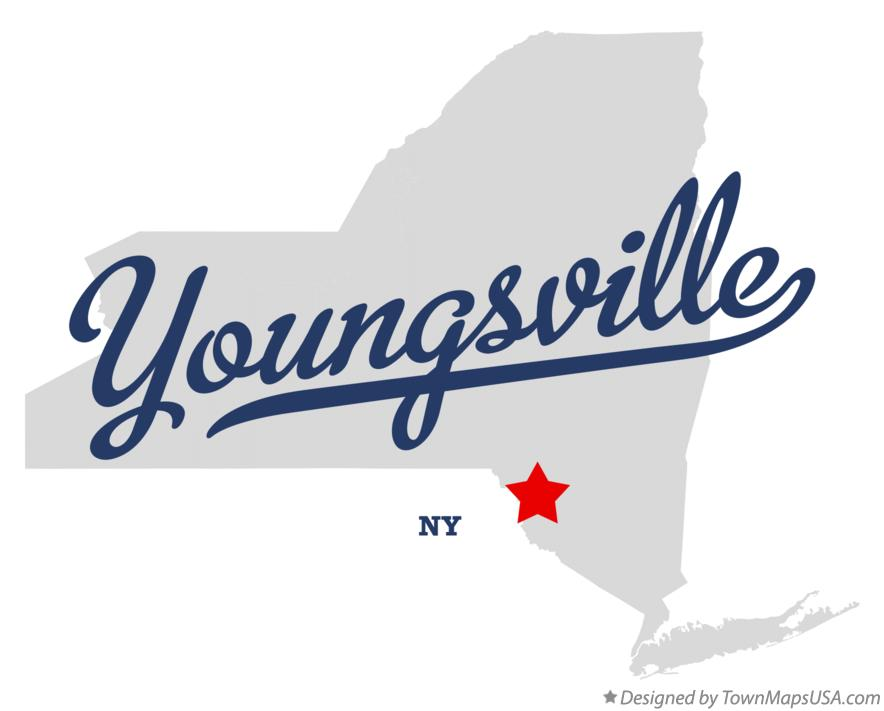 Map of Youngsville New York NY