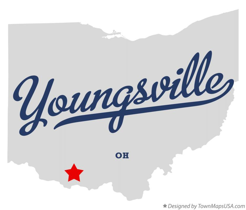 Map of Youngsville Ohio OH