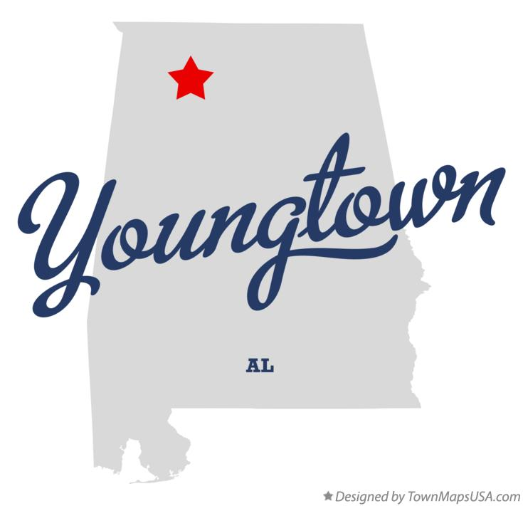 Map of Youngtown Alabama AL