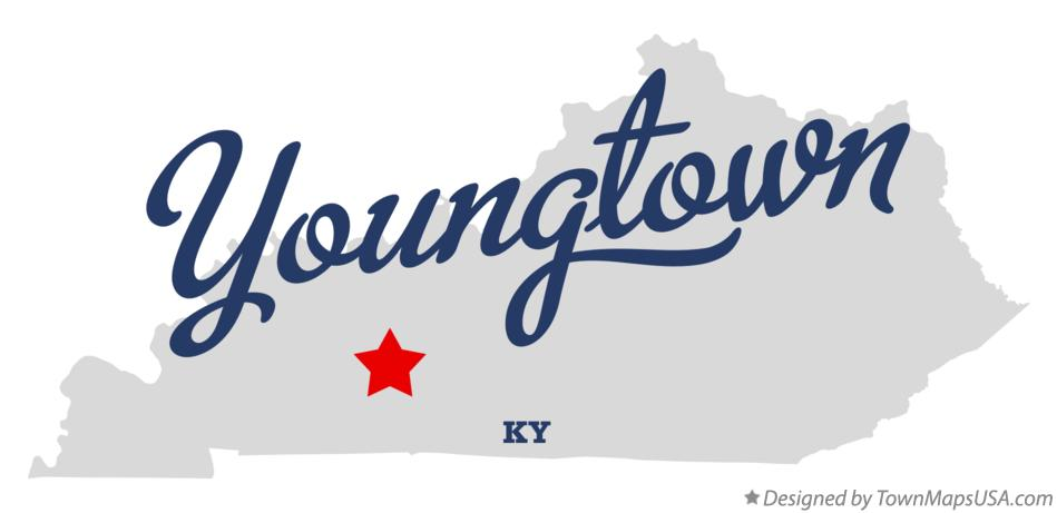 Map of Youngtown Kentucky KY
