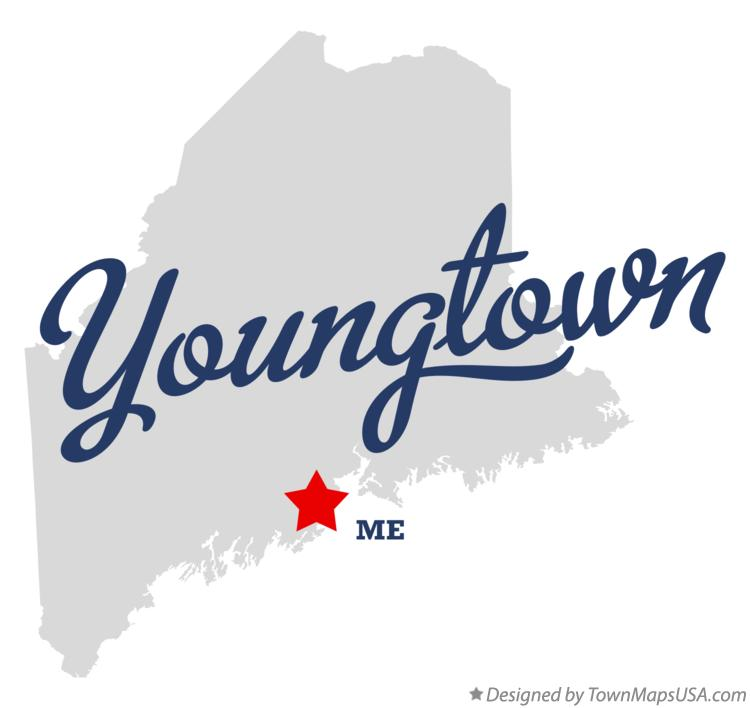 Map of Youngtown Maine ME