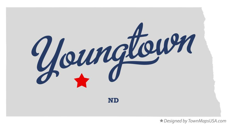 Map of Youngtown North Dakota ND