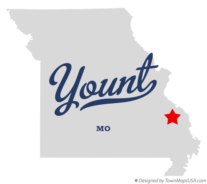 Map of Yount Missouri MO