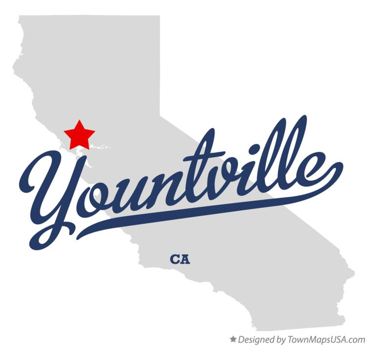 Map of Yountville California CA