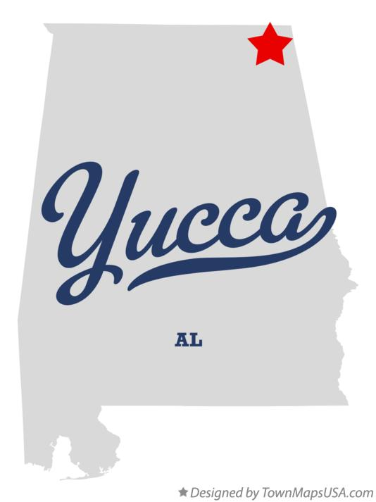 Map of Yucca Alabama AL