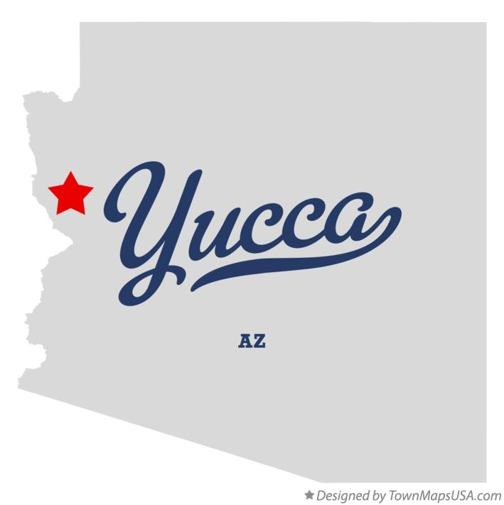 Map of Yucca Arizona AZ