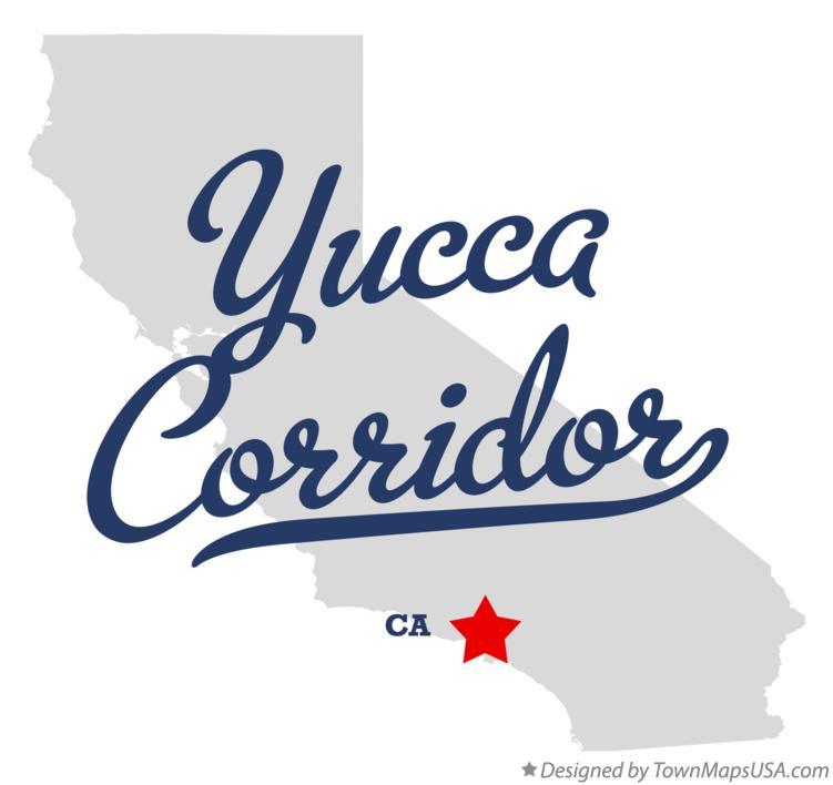 Map of Yucca Corridor California CA