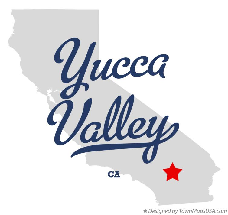 Map of Yucca Valley California CA