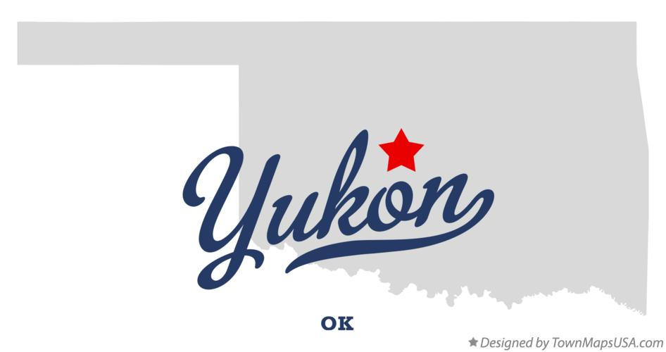 Map of Yukon Oklahoma OK