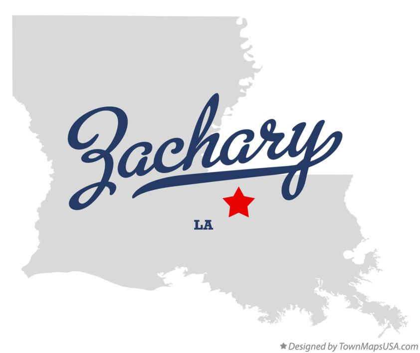 Map of Zachary, LA, Louisiana