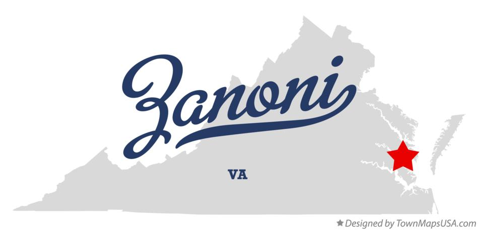 Map of Zanoni Virginia VA