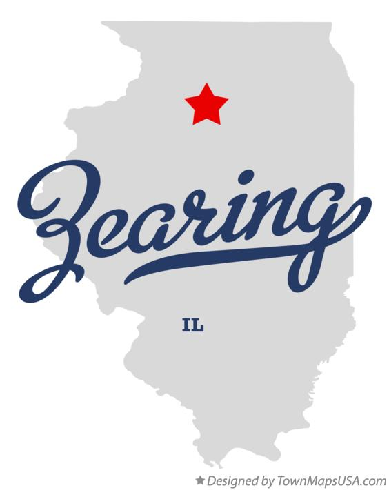 Map of Zearing Illinois IL