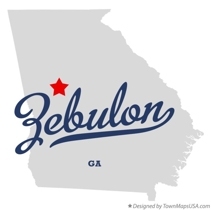 Map of Zebulon Georgia GA