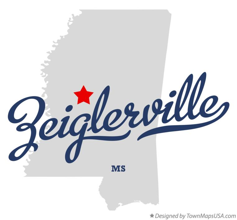 Map of Zeiglerville Mississippi MS