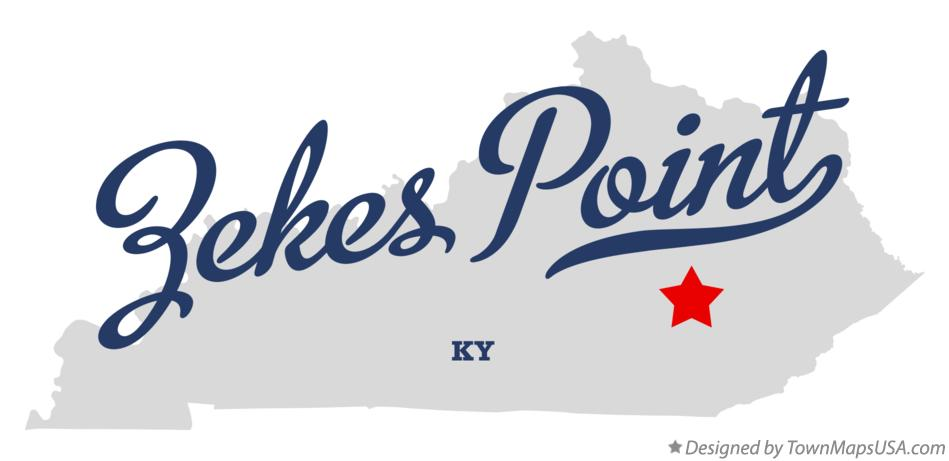 Map of Zekes Point Kentucky KY