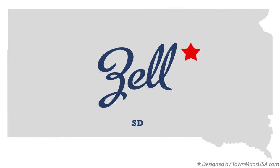 Map of Zell South Dakota SD