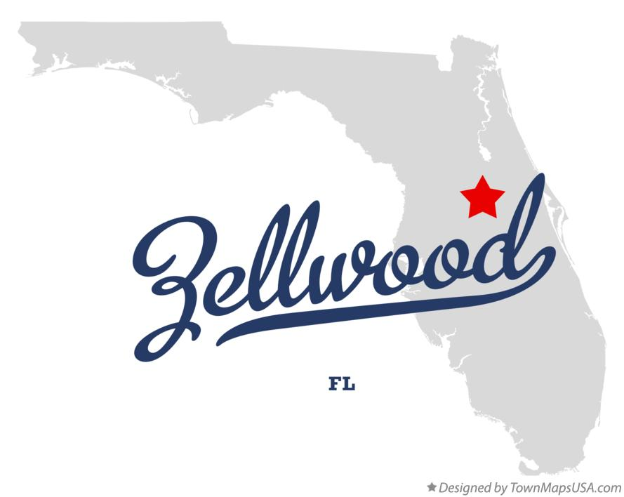 Map of Zellwood Florida FL