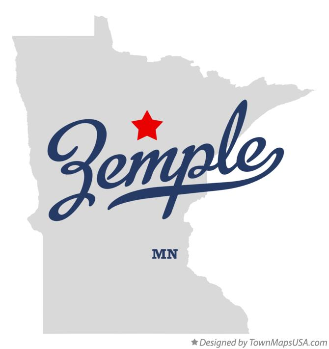 Map of Zemple Minnesota MN