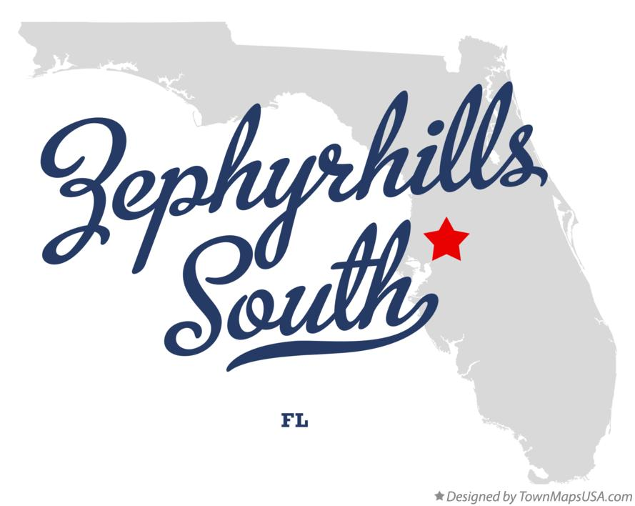 Map of Zephyrhills South Florida FL