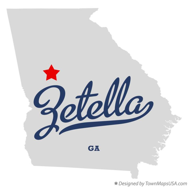 Map of Zetella Georgia GA