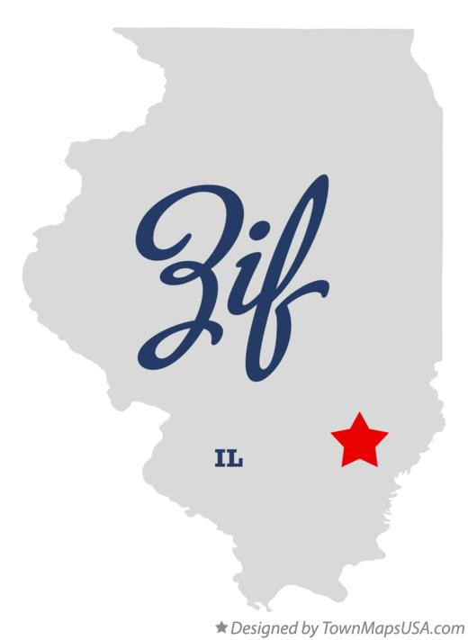 Map of Zif Illinois IL