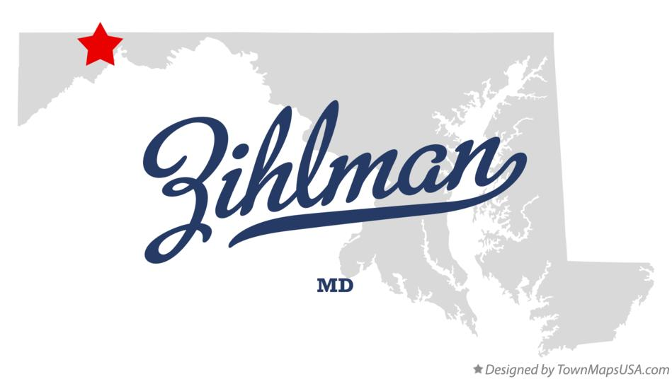 Map of Zihlman Maryland MD