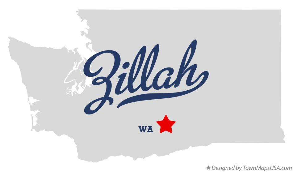 Map of Zillah Washington WA