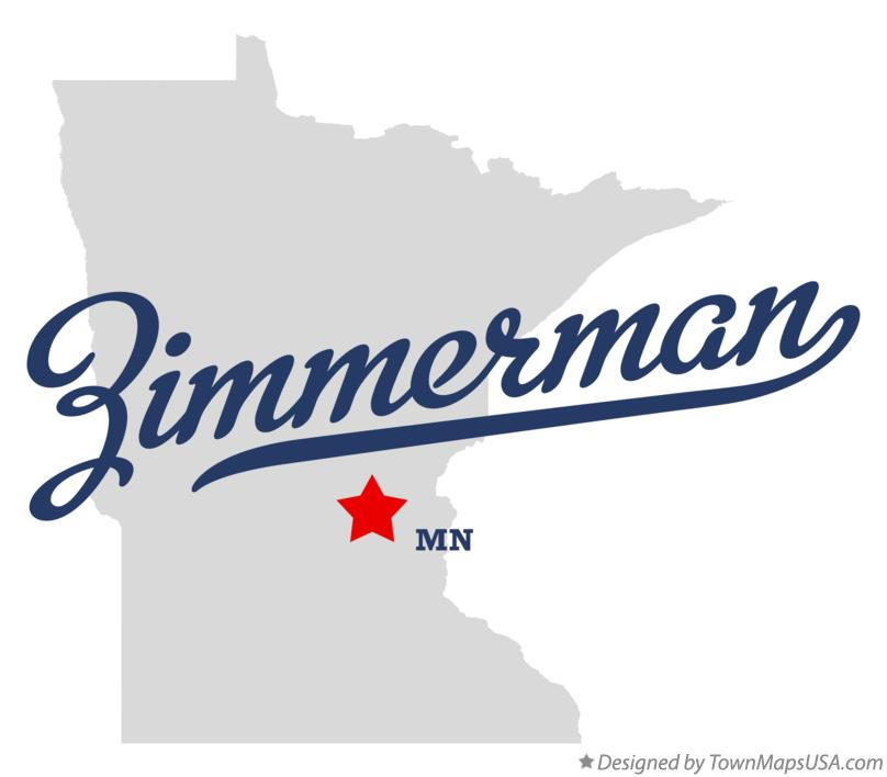 Map of Zimmerman Minnesota MN
