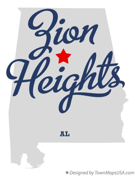 Map of Zion Heights Alabama AL