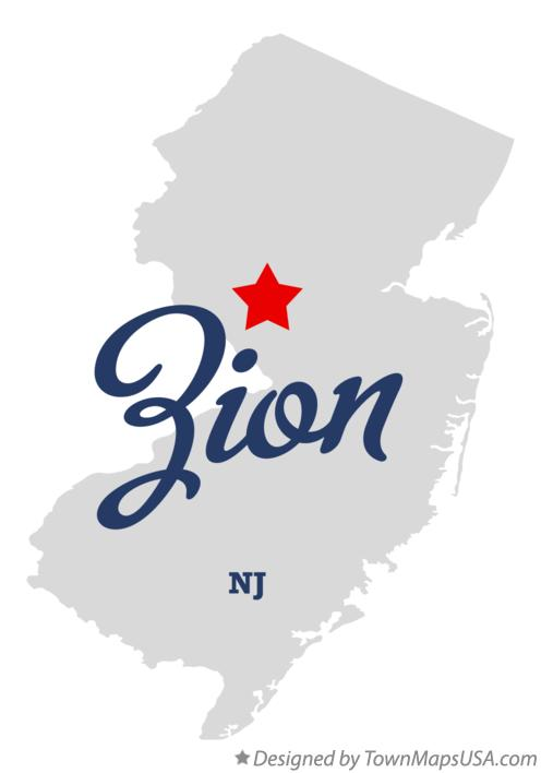 Map of Zion New Jersey NJ