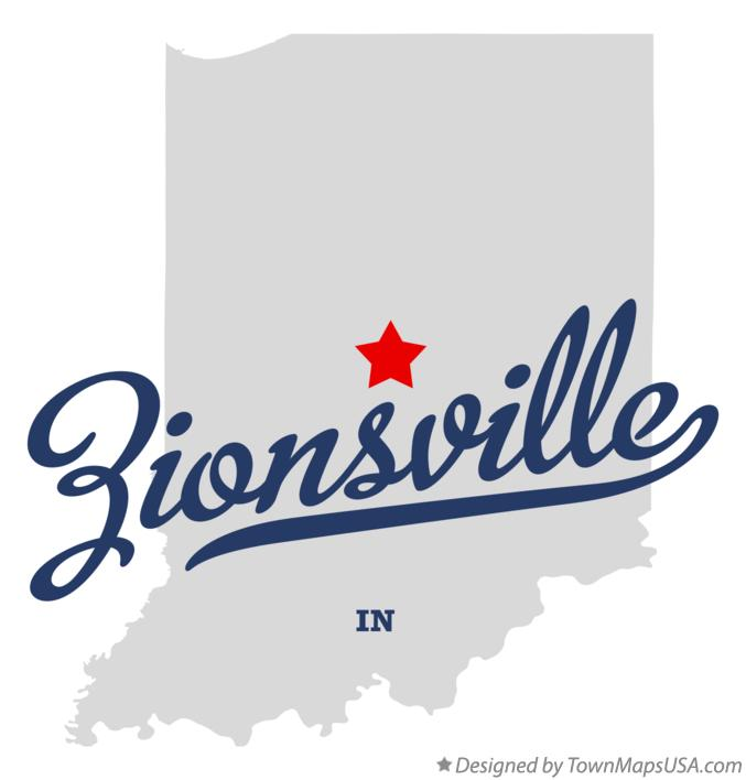 Map of Zionsville Indiana IN