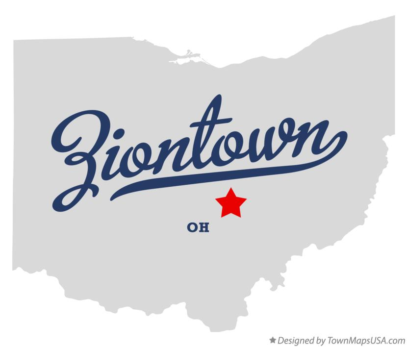 Map of Ziontown Ohio OH