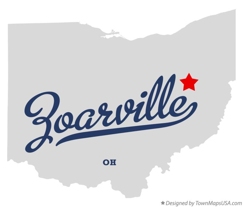 Map of Zoarville Ohio OH